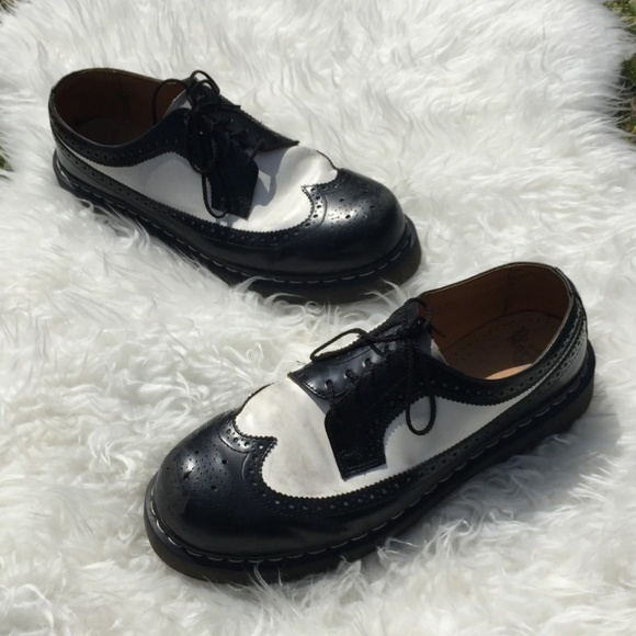 Dr Martens Wingtip Black White Creepers